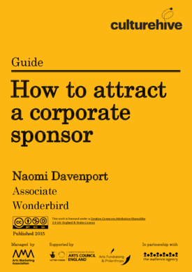 How to attract a corporate sponsor