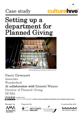 Setting up a department for Planned Giving