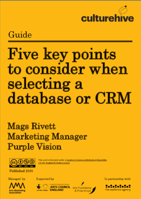 Five key points to consider when selecting a database or CRM