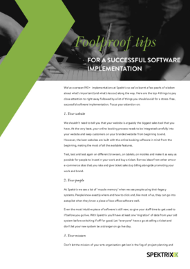 Foolproof tips for a successful software implementation