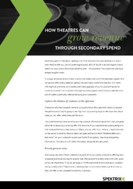How theatres can maximise revenue through secondary spend