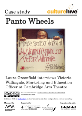 Panto Wheels: a sponsored fundraising event in the arts