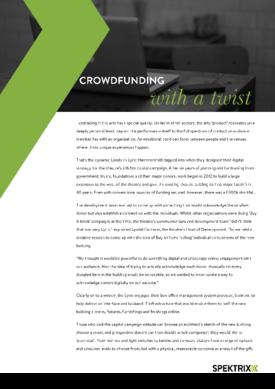 Crowdfunding with a twist
