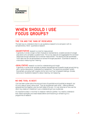 When Should I Use Focus Groups?