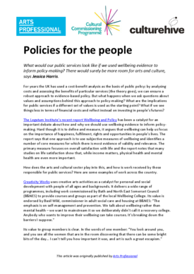 Policies for the people