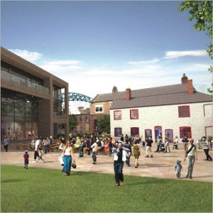 Live Theatre's Live Works courtyard CGI