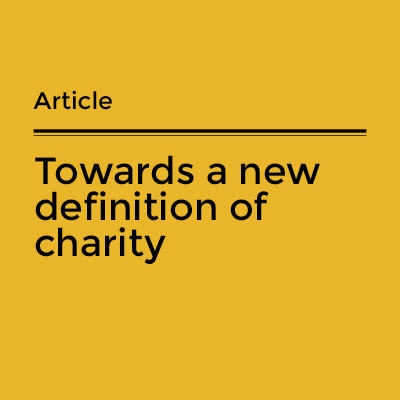 Towards a new definition of charity