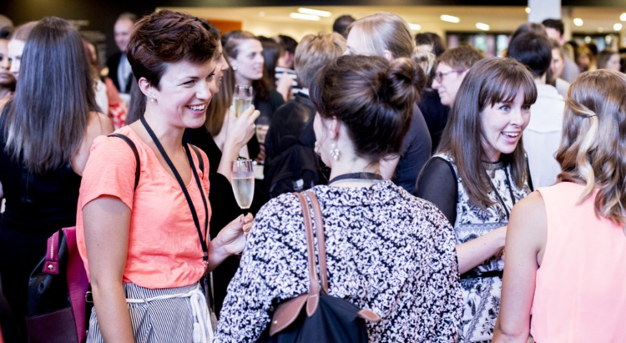 People networking at AMA Conference