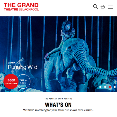 The Grand Theatre website screen shot