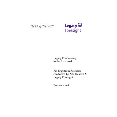 Legacy Fundraising in the Arts front cover