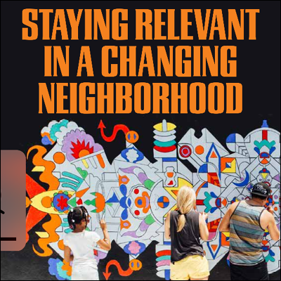 Staying relevant in a changing neighbourhood title