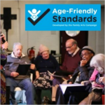 Age-Friendly Standards logo and older people