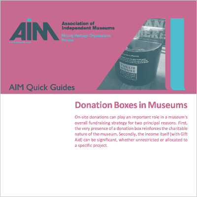 Donation boxes in museums front cover