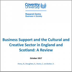 Business Support for the Cultural and Creative Sector