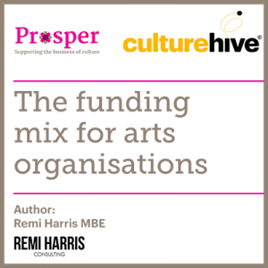 The funding mix for arts organisations