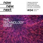 Front page with Technology issue over spiralling purple and pink