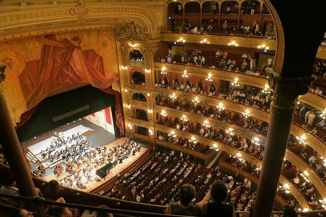 View of a theatre during an opera