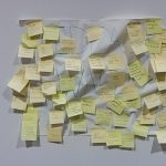 Image of post it notes on wall