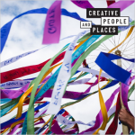 Creative People and Places logo and maypole