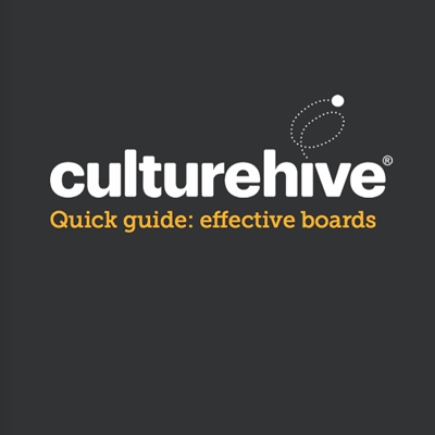 Culturehive logo and effective boards title