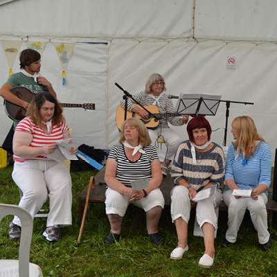 Bolsover Poetry Group performing