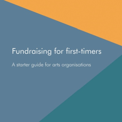 Guide front cover with text Fundraising for first-timers