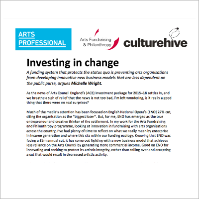 Investing in change article screen shot