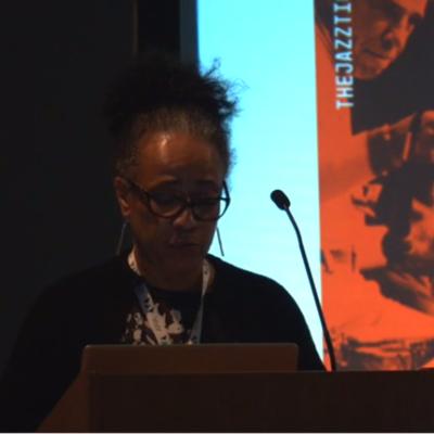 Janine Irons presenting