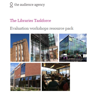 Five external shots of libraries forming the cover of the resource pack
