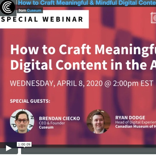 Webinar: How to craft meaningful and mindful digital content in the age of Coronavirus
