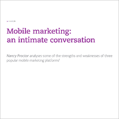 Mobile Marketing article headline