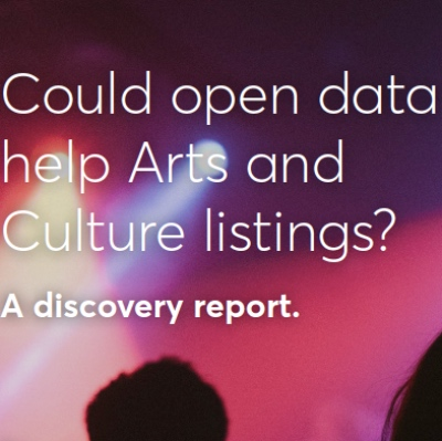 Could open data helps arts and culture listings – a discovery report.