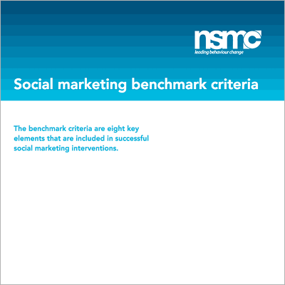 Social marketing benchmark criteria front cover