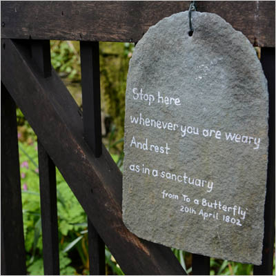 Stop here whenever you are weary and rest sign