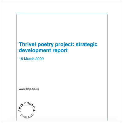 Thrive! poetry project report cover