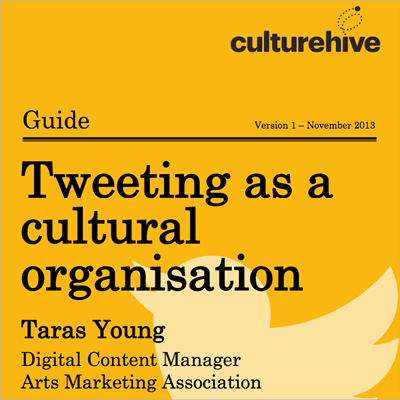 Using Twitter for Cultural Organisations guide front cover