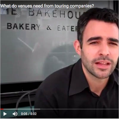 What do venues need from touring companies?