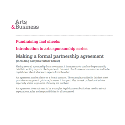 Writing a Partnership Agreement resource title