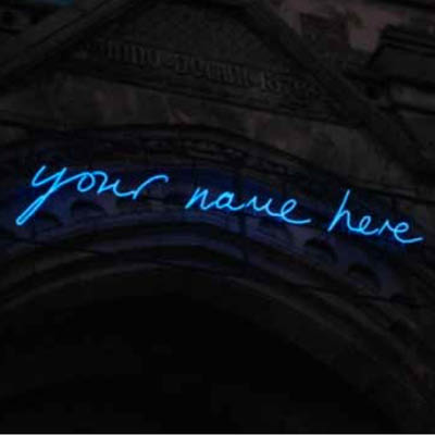 Your name here illumination