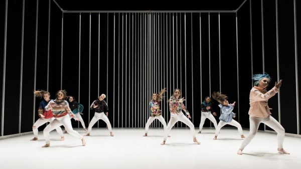 Dancers on a stage performing