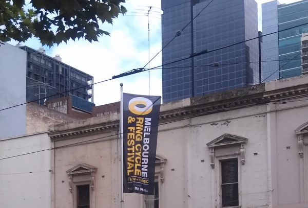 A banner promoting the Melbourne Ring Cycle and Festival