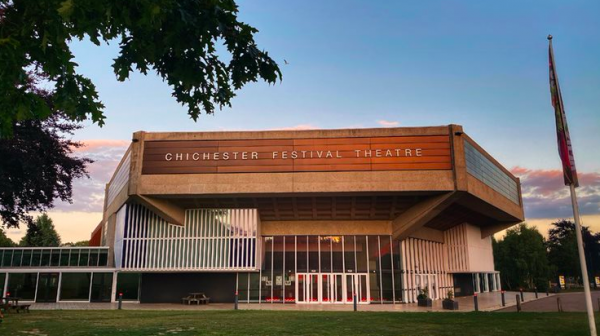 The frontage of the Chichester Festival Theatre
