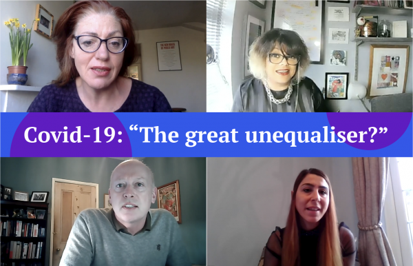 """Webinar: Covid-19: """"The great unequaliser?"""""""