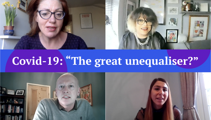 "Webinar: Covid-19: ""The great unequaliser?"""
