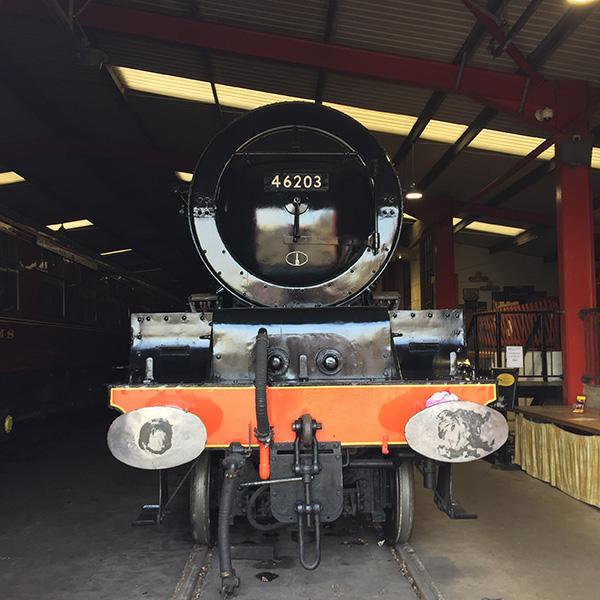 Image of a steam train No. 46203.