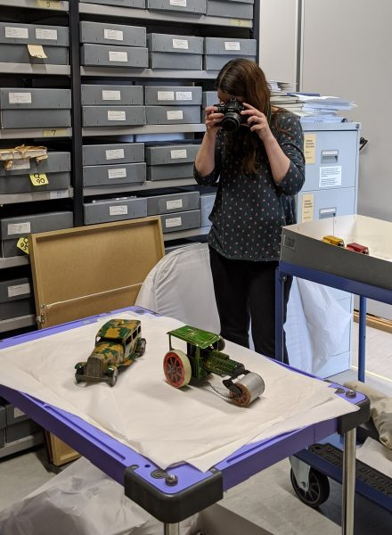 Photographing artefacts from the museum