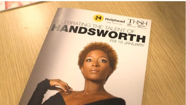 A magazine, Celebrating the talent of Handsworth, on a table