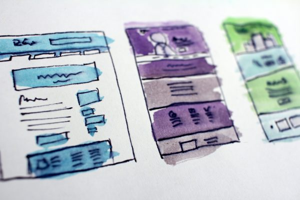 Sketches of infographics